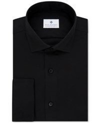 Ryan Seacrest Distinction Men's Evening Collection Slim Fit Non Iron French Cuff Dress Shirt Only At Macy's Black
