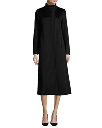 Fleurette Long Wool Coat Black