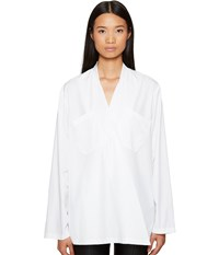 Sportmax Sangria Runway Crossover Long Sleeve Top White Women's Long Sleeve Button Up