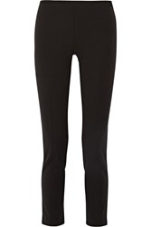 Michael Kors Stretch Twill Straight Leg Pants Black