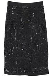 Mango Reina Pencil Skirt Black
