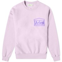 Aries Premium Temple Crew Sweat Purple