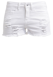 Evenandodd Denim Shorts Offwhite Off White