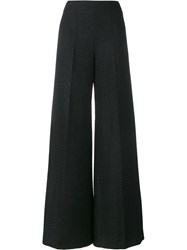 Emilia Wickstead Herringbone Flared Trousers Black