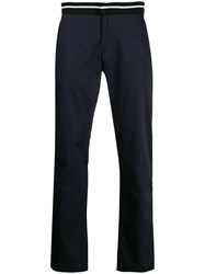 Karl Lagerfeld Knitted Waistband Chinos Blue