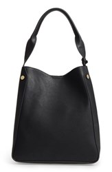 Sole Society Alani Faux Leather Shoulder Bag Black
