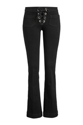 Seafarer Flared Jeans With Lace Up Front Black