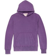 Remi Relief Cropped Loopback Cotton Jersey Hoodie Purple