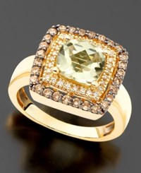Le Vian 14K Gold Ring Green Amethyst 1 7 8 Ct. T.W. And Chocolate Diamond 1 2 Ct. T.W.