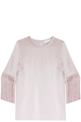 Andrew Gn Satin Blouse Pink
