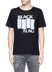 R 13 'Black Flag' Japanese Cotton Cashmere T Shirt