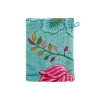 Pip Studio Floral Fantasy Towel Light Petrol Wash Mitt