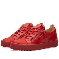 Giuseppe Zanotti Ballistic Double Zip Low Sneaker Red
