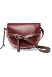 Loewe Gate Small Color Block Leather Shoulder Bag Burgundy