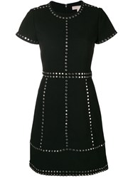 Michael Michael Kors Studded Mini Dress Black