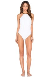 Lenny Niemeyer Bamboo Swimsuit White