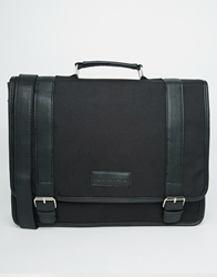 French Connection Nylon Messenger Bag Black