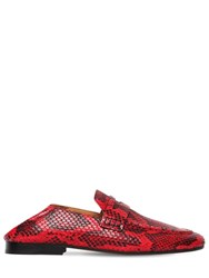 be84150e1a Isabel Marant 10Mm Fezzy Python Printed Penny Loafers Red