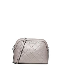 Michael Kors Cindy Large Studded Leather Crossbody Pearl Grey