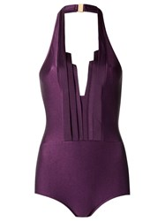 Adriana Degreas Halter Neck Swimsuit Pink Purple