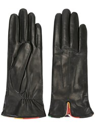 Paul Smith Leather Gloves Black
