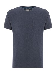 Linea Austin Cotton Crew Neck T Shirt Navy