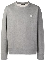Acne Studios Fairview Face Sweatshirt Grey