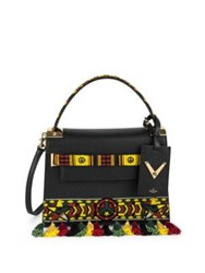 Valentino My Rockstud Small Jamaican Beaded Leather Bag Black Multi