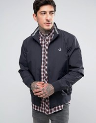 Fred Perry Brentham Mesh Lined Jacket In Navy Navy