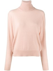 Laneus Turtle Neck Sweater Pink