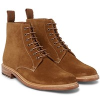 Grenson Fergal Suede Boots Light Brown
