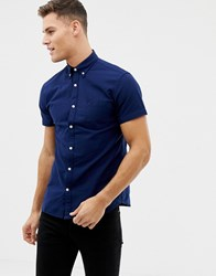 Selected Homme Short Sleeve Oxford Shirts Navy