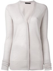 Calvin Klein Collection V Neck Cardigan Women Cashmere S Pink Purple