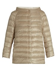 Herno Boat Neck Quilted Down Jacket Gold