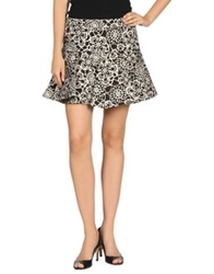 Thakoon Mini Skirts Dark Brown