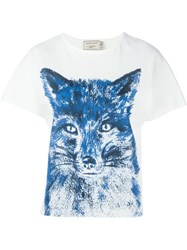 Maison Kitsune Fox Brush T Shirt White