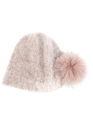 Ca4la Perfectly Fitted Knitted Hat Nude And Neutrals