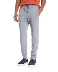 Vince Cotton Jogger Sweatpants With Pockets Silver