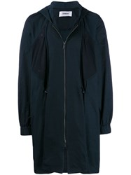 Chalayan Hooded Coat Blue