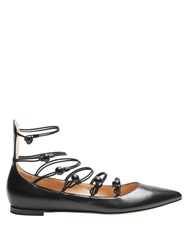 Gianvito Rossi Marquis Point Toe Leather Pumps Black