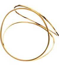 Husam El Odeh Looped 18Ct Gold Plated Pyramid Bangle