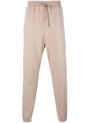 Stampd Perforated Decoration Sweatpants Nude Neutrals