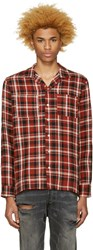 Palm Angels Red Check Pyjama Shirt