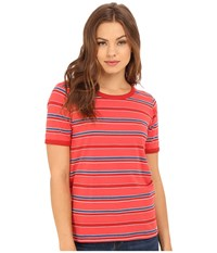 Obey Porterville Crew Poppy Multi Women's Clothing
