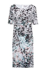 Great Plains Miquita Marble Ruched Dress Green