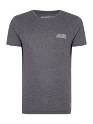 Jack And Jones Track And Field Small Logo T Shirt Indigo