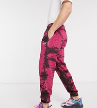 Reebok Classics Tie Dye Joggers In Pink And Black Exclusive To Asos