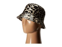 Karen Kane Printed Rain Bucket Grey Leopard Bucket Caps Animal Print