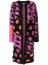 Opening Ceremony Patterned Cardi Coat Black