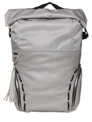 Diesel Black Gold Smooth Leather Backpack W Nylon Details